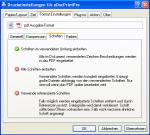 eDoc PDF Optionen Schriften