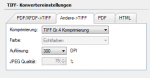 9_FileConverter - TIFF Konvertier Settings