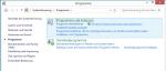 Windows 8 - Windows Features aktivieren