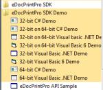 eDoCPrintPro SDK Demo