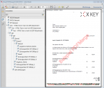 A6_PDFMerge - Ergebnisdatei mit hinterlegtem Briefpapier, Seitennummer, Stempel, Bookmarks