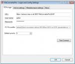 01 EMail Archiver - Config - FileConverterPro Communication settings