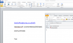9_Print from applicaiton to the eDocPrinter driver - information from document is read out - email message is created