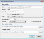 DropConvert - FileConvertPro Windows Client - Konfigurationseinstellungen