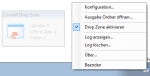 DropConvert - FileConverterPro Windows Client - Icon tray Menüfunktionen und DropZone