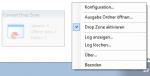 DropConvert - FileConverterPro Windows Client - Icon tray Menüfunktionen und DropZone