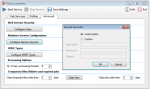 UI5_FCpro - Advanced settings - service account config
