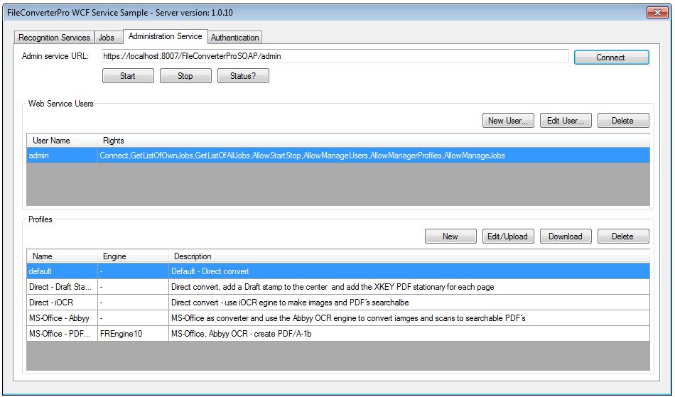FileConverterPro Client – WCF service sample – C# application incl