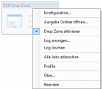 DropOCR - Context Menu - Icon Tray Anwendung