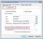 Der eDocPrintPro ZUGFeRD Druckertreiber erzeugt ein PDFA-Level3b und bettet eine XML Datei mit ein