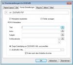 eDocPrintPro - ZUGFeRD Format Einstellungen