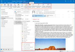 Email Archiver unter MS-Office 2016 unter Windows 10