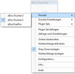 2_DropZone - eDoc Drucker für die Konfiguration auswählbar
