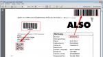 15_PDFmdx - Barcode als QR-Code und Rechnugsnummer als Barcode aufgestempelt