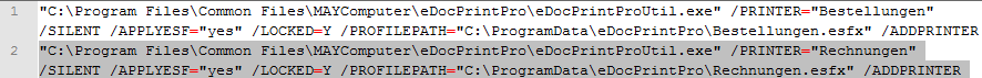 Beispiel für eDocPrintProUtil Anwendung