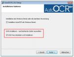 Setup Option - iOCR herunterladen und installieren