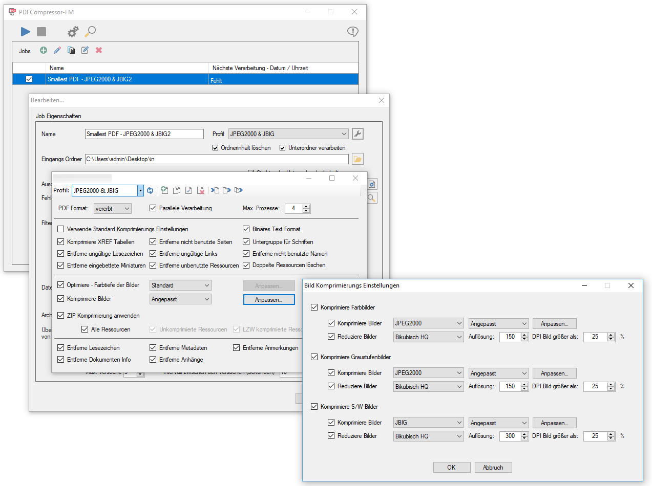 PDFCompressor-FM – Windows Service with Folder Monitoring – Optimize