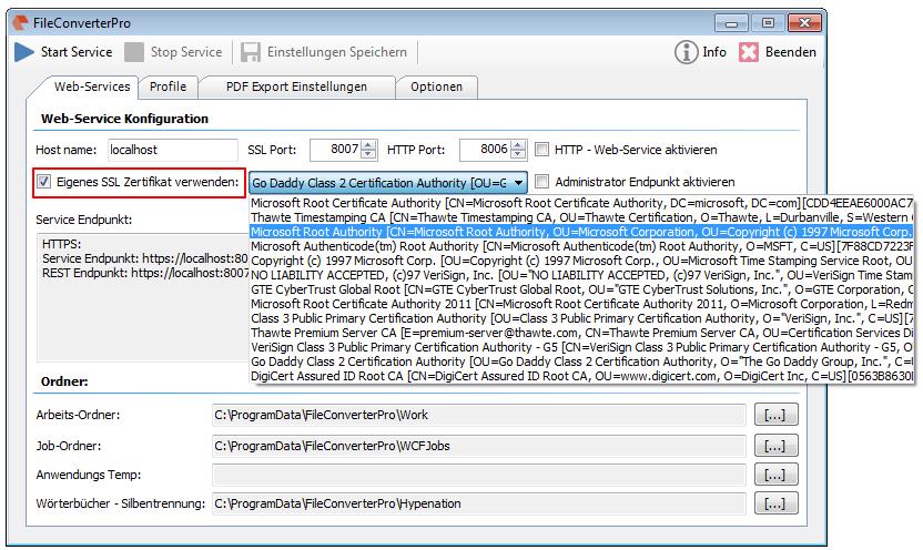 FileConverterPro 1.0.76 – Use your own, public SSL certificate | PDF ...