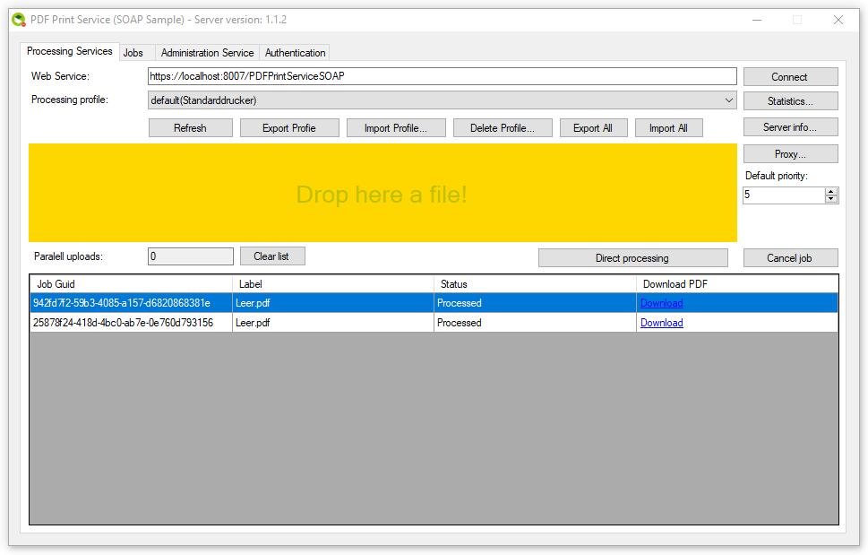 PDFPrint Service CS – Windows service with REST / SOAP Web