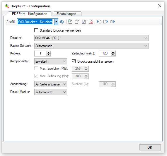 DropPrint – Print PDF's automatically via DropZone and
